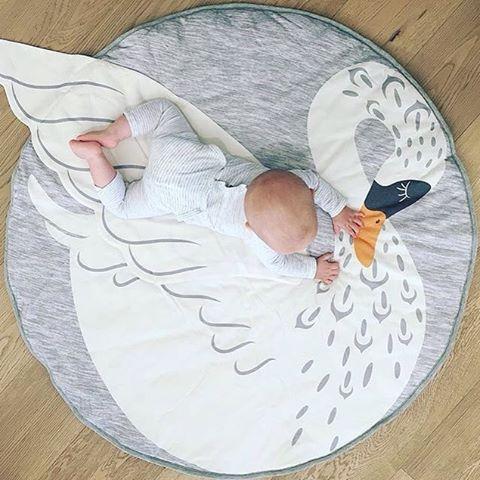 Animal Climbing Carpet Baby Play Mats Newborn Infant Soft Sleeping Cotton Mat Bebe Swan Blanket Round Carpet Rug Toys Mat