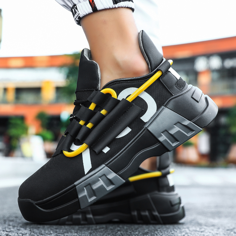 Fires Fashion Men Casual Shoes Thick Bottom Men Sneakers Trend Outdoor Men Shoes Light Breathable Hot Sale Popular Leisure Shoes