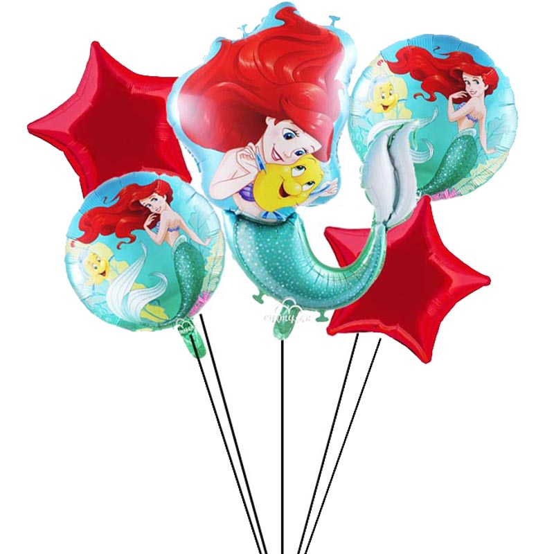 Disney Princess Ariel Little Mermaid Snow White Balloons Birthday party 65cm