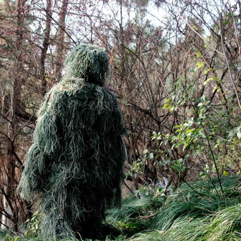 3D Leaf Camouflage Ghillie Outdoor Hunting Birding Watching Photographing Clothing Breathable Jungle Clothes for Hunter