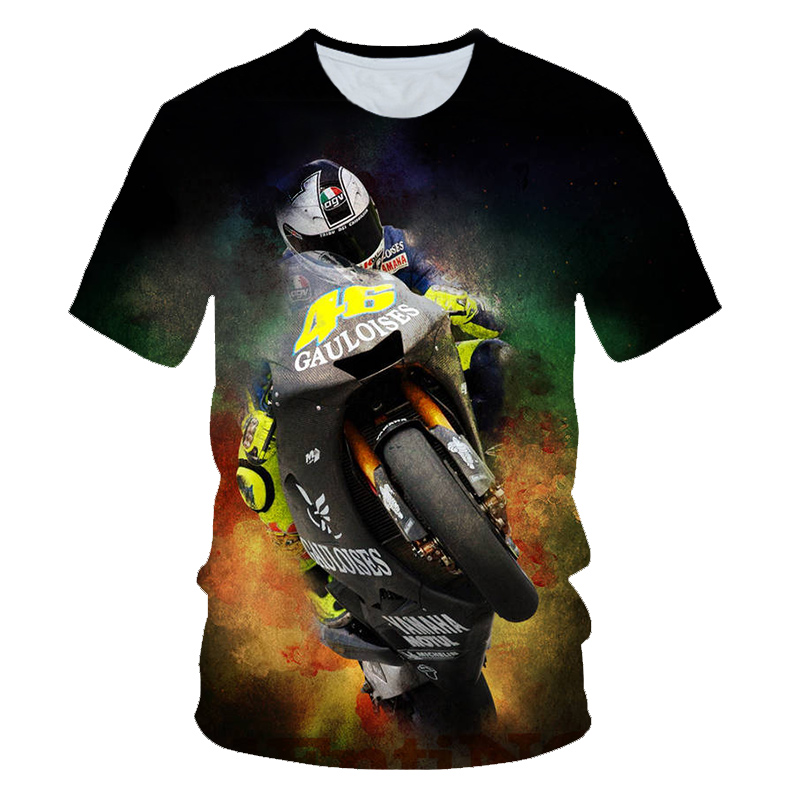 T-Shirt Boys Motorcycle Racing Girls Design Sports Children Brand Fashion Summer Car