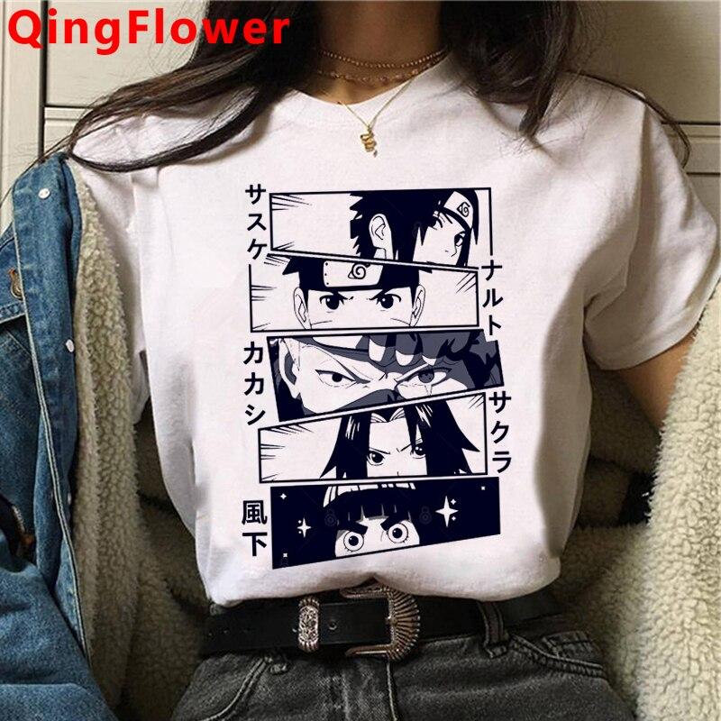 Naruto Harajuku Funny Cartoon T Shirt Women Fashion Japanese Anime T-shirt Sasuke Ullzang Graphic Tshirt 90s Top Tees Female