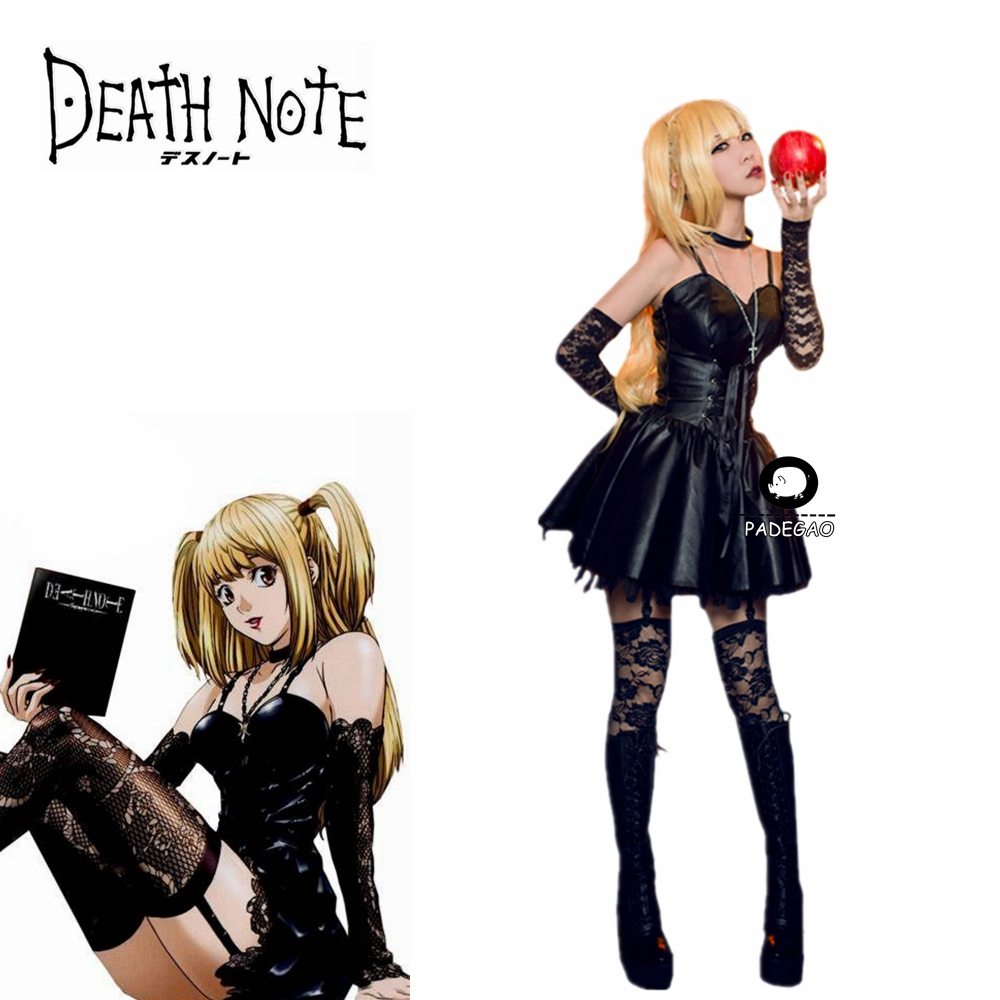 Anime Death Note Misa Amane Cosplay Costume Black Party Dress Custom Any Size