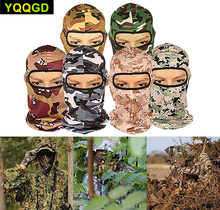Купить с кэшбэком 1Pcs Camouflage Balaclava Ninja Hood Military Camo Balaclava Tactical Balaclava Ski Mask Motorcycle Face Mask for Outdoor
