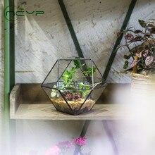 new creative flower pot flower pot gardening home decoration bonsai desktop small flower pot bonsai pot NCYP Glass Flower Pot Handmade Gardening Bonsai Plant Pot Desktop Geometric Terrarium for Succulents Pot Pastoral Style Decor