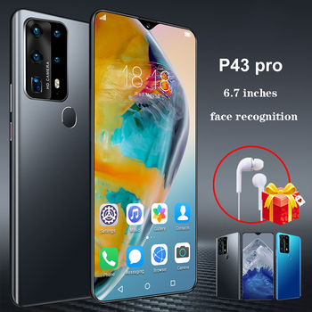 NEW 6.7inch P43pro Smartphone 8GB RAM 512GB ROM Snapdragon 855 Cellphone Dual SIM Android10.0 Mobile Phone Cell Smart Phones