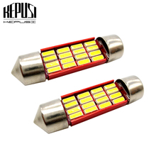 2x 31mm 36mm 39mm 41mm C5W Canbus LED Light Bulb festoon C10W 4014SMD Auto Led Lamp Car Interior Dome Map License Plate