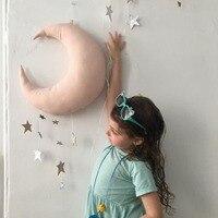 새 벽 배경 어린이 방에 매달려 홈 달과 별 방 장식품 장식 장면 소품 멀티 컬러 핑크 금성