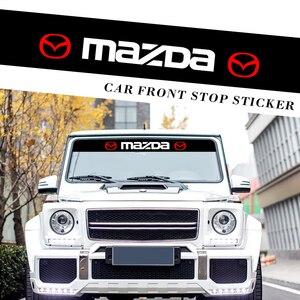 Image 3 - Auto Styling Frontscheibe Sonnenschirm Abziehbilder Hintere Banner Reflektierende Aufkleber Für Mazda 5 6 323 626 RX8 MX3 MX5 CX 5 atenza Axela