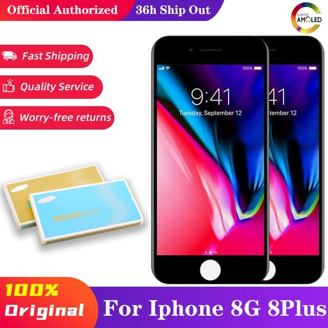 LCD dellesposizione del AAA del grado di 10 pz/lotto per il iPhone 8 8 più Display LCD 4.7 della sostituzione dellassemblea del convertitore analogico/digitale del Touch Screen 3D