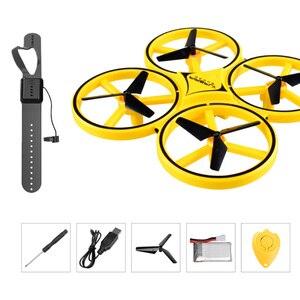 Image 1 - מיני מסוק אינדוקציה Drone חכם שעון יד המחווה חיישן מרחוק RC מטוסי UFO עף Quadcopter אינטראקטיבי ילדים צעצועים