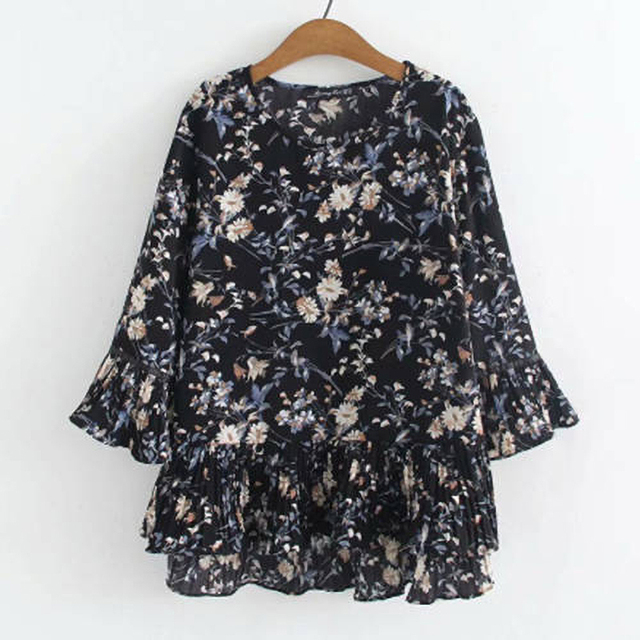 chiffon top floral print loose and free 5