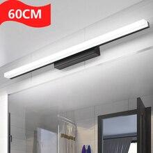 Luz led para espejo de baño de 600mm AC85-265V dormitorio moderno de 14W acrílico vanidad lámpara de pared iluminación de decoración de estudio