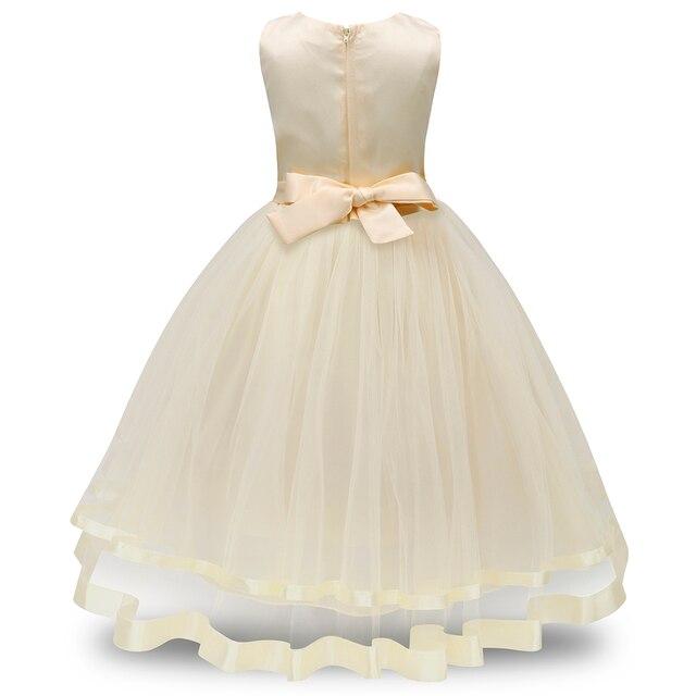 Kwiatowe sukienki dla dzieci letnie sukienki dla dzieci dla dziewczynek koronkowe sukienki bez rękawów dla dziewczynek urodziny suknia ślubna księżniczka 4-10 lat