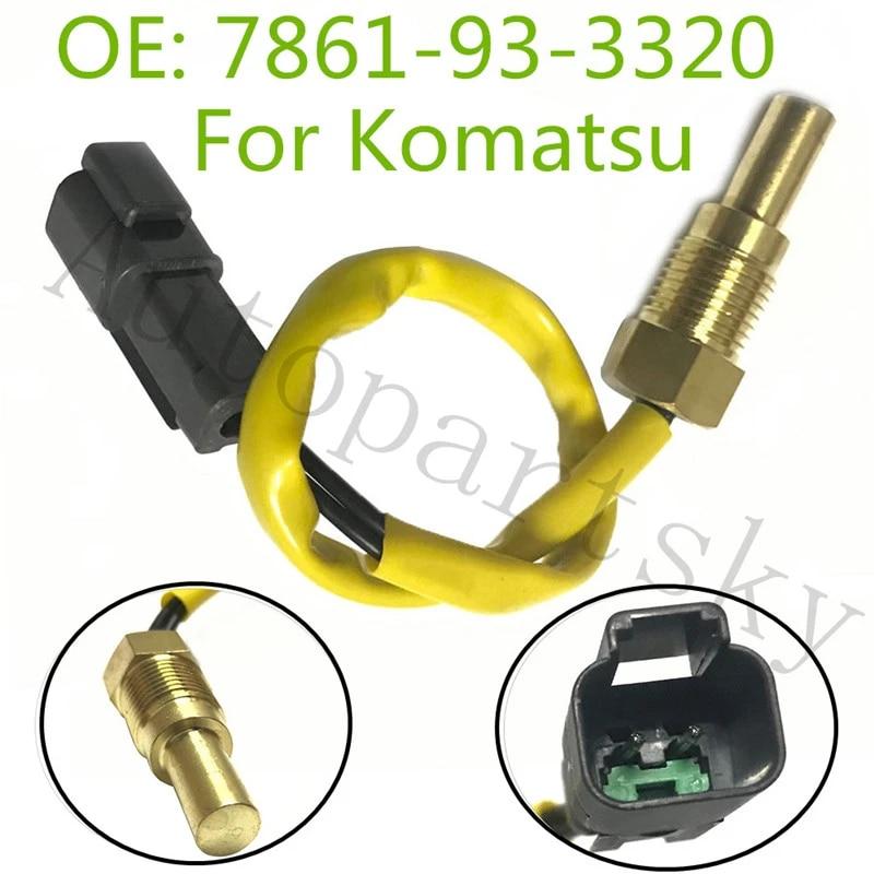 7861-93-3320 PC200-7 Water Temperature Sensor For Komatsu Excavator Sensor Part