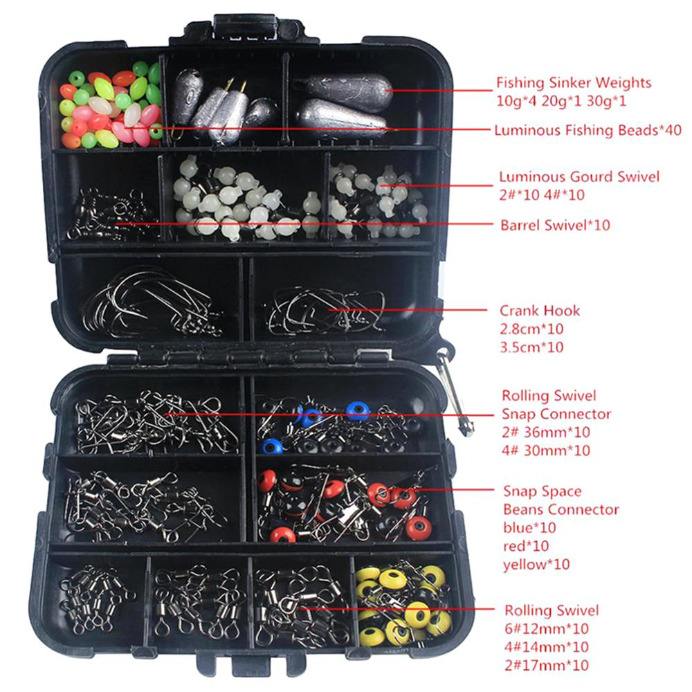 177PCS Fishing Kit Accessories Hooks Beads Tackle Box Durable Telescopic Fishing Rod Combo And Reel Full Gear Set Line Lures