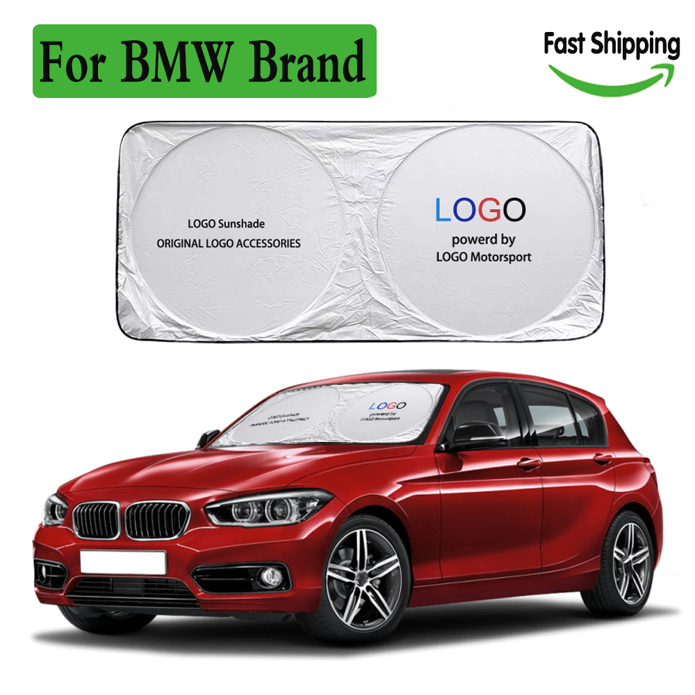 For auto sun cover visor protector m logo emblem windshield sunshade for BMW 1 2 3 4 series X2 car shade sunshine blind Anti-UV
