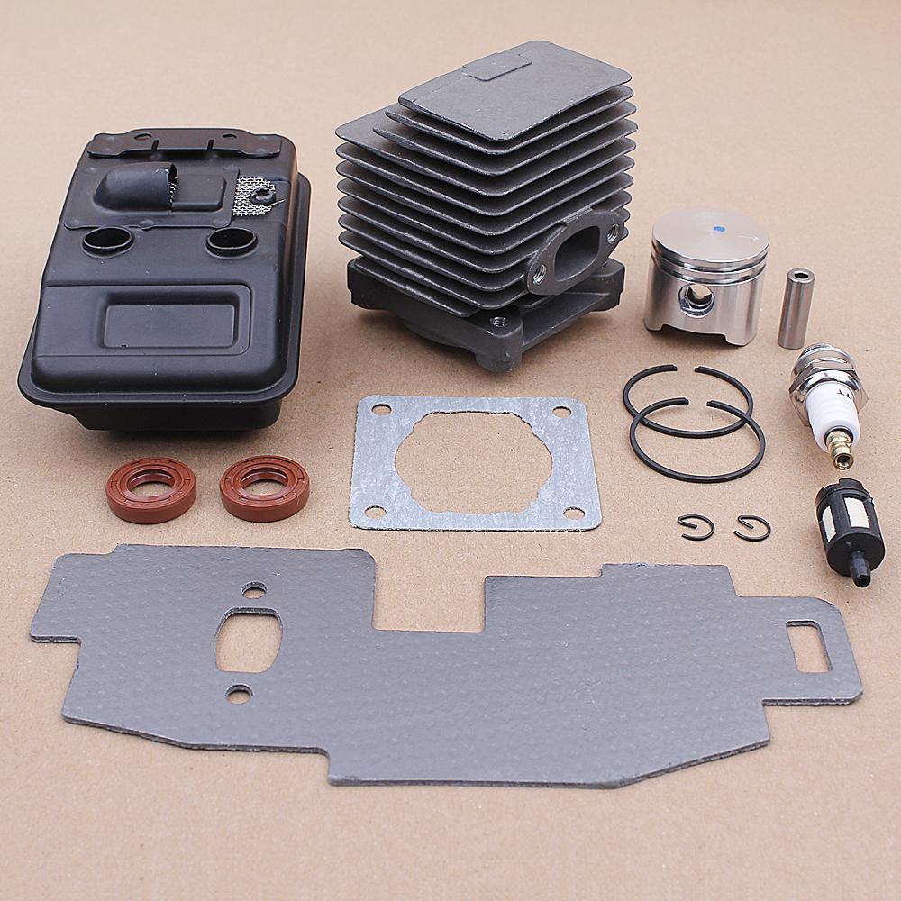 Stihl Exhaust Parts Gasket Oil Piston FS85 0603 FS75 4137 Trimmer 34MM FS80 Kit Cylinder For Muffler Seal 140