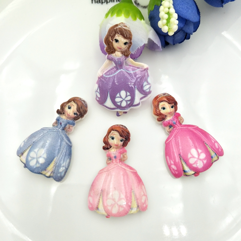 Ballerina Planar Resin FlatBack Cabochon Decoden Kawaii Craft Embellishment Bow
