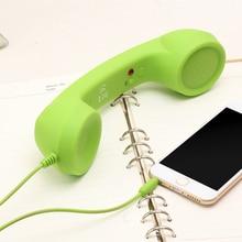Receptor de teléfono móvil Vococal Vintage Anti radiación con función de temporizador automático interfaz de 3,5mm Colores al azar