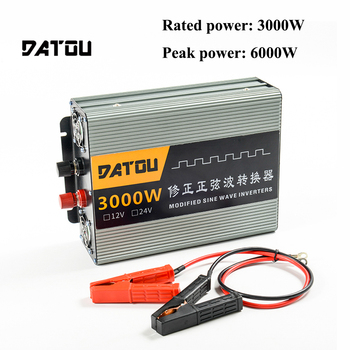 6000W Modified Sine Wave Voltage Converter Transformer Portable Inverter DC 24V to AC 220V Car Power Inverter buddy Rated 3000W inverte 12v 220v 6000w pure sine wave inverter 6000w ac to dc 12v 24v 36v to 110v 120v 240v