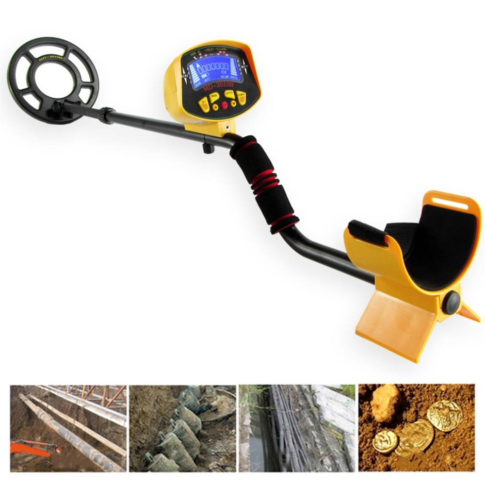 MD3010 Ground Searching Metal Detector Portable Nugget Finder 1-1.5M Gold Silver Detector Treasure Hunting Tool