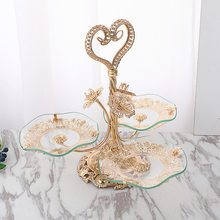 New light luxury style creative family living room hotel tea table crystal fruit plate European fruit plate