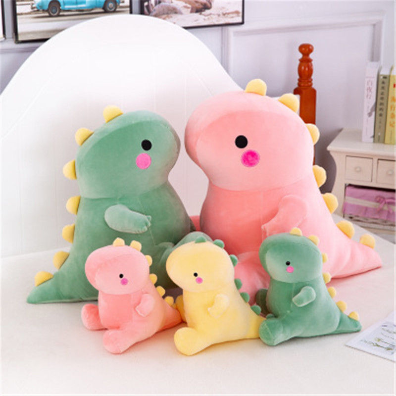 New Ultra Soft Lovely Dinosaur Plush Doll Huggable Stuffed Dino Toy Kids Animals Plush Kawaii Toy Cartoon Toy Classic Gift