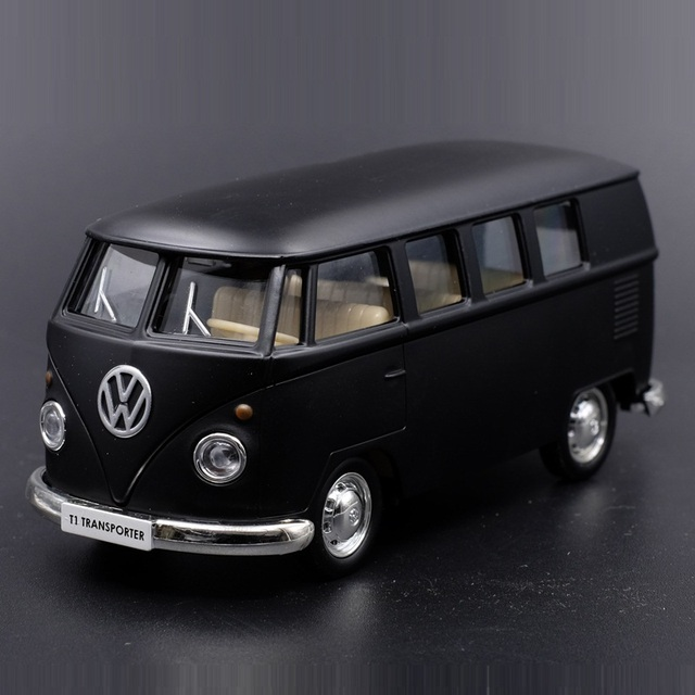 High Simulation Exquisite Diecasts Toy Vehicles RMZ city Car Styling T1 Transporter Classical Bus 1:36 Alloy Model Pull Back Car 1