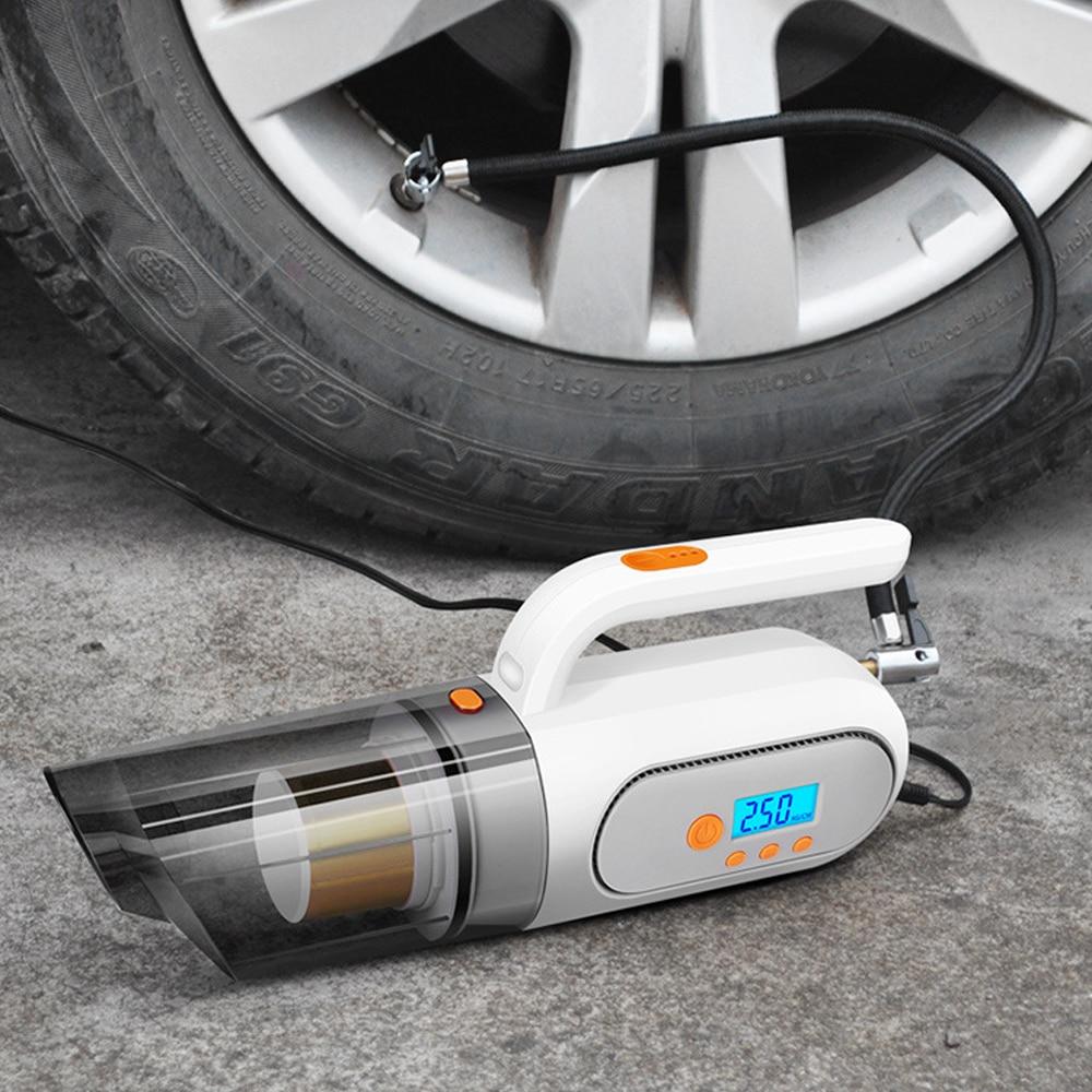 Многофункциональный автомобильный пылесос 25000 ПА + насос для накачивания со светодиодный светильник кой, портативный автомобильный надувн...
