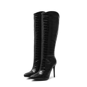 Image 4 - MORAZORA bottes hautes pour femmes, chaussures sexy à talons hauts fins, couleurs unies, pour fêtes, mariages, automne, hiver, 2020