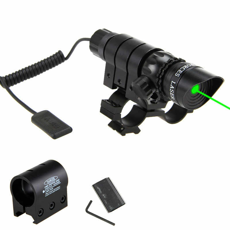 Red/Green Laser Dot Ponto Objetivo 20 milímetros Hunting Rifle Scopes Tactical Pistol Laser Sight Scope Caça Tiro Ajustável riflescope