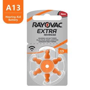 Image 2 - 60 PCS Rayovac נוסף גבוהה ביצועים שמיעה. אבץ אוויר 13/P13/PR48 סוללה עבור BTE איידס משלוח חינם