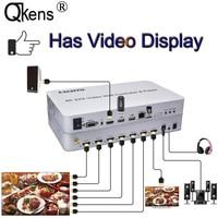 4K 1080P 60Hz 2x3 Splicer 2x2 3x3 Splicing Display Processor HDMI USB Player Video Wall Controller Fitfor KVM USB Mouse Keyboard