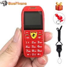 """미니 자동차 키 푸시 버튼 휴대 전화 1.0 """"손 전화 매직 음성 MP3 블루투스 다이얼러 작은 크기의 저렴한 어린이 핸드폰"""