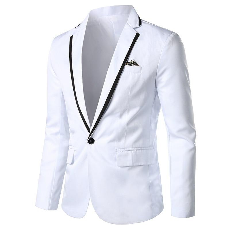 Men Casual Korean-style New Style Suit Coat Slim Fit Business Tops Best Man Wedding Formal Dress Suit Men's Handsome