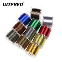 Wifreo 100 yards/spool Metallic Guide Rod Building Wrapping Fishing Line Thread Strong Nylon Fibers Nymph Midge Jig Hook Tying