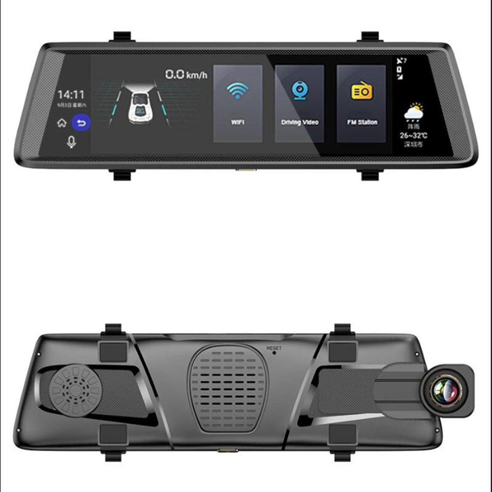 Streaming Wifi Driving Recorder 10 Inch 3G Full Screen Smart Rearview Mirror HD Android Navigation Electronic Dog