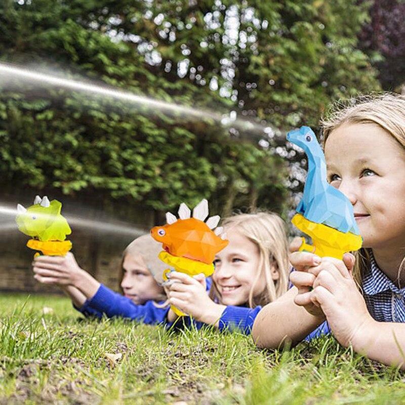 3D Dinosaur Water Gun For Kids Summer Cute Cartoon Tyrannosaurus Press Water Spray Gun Small Pistol Gun Outdoor Beach Garden Toy