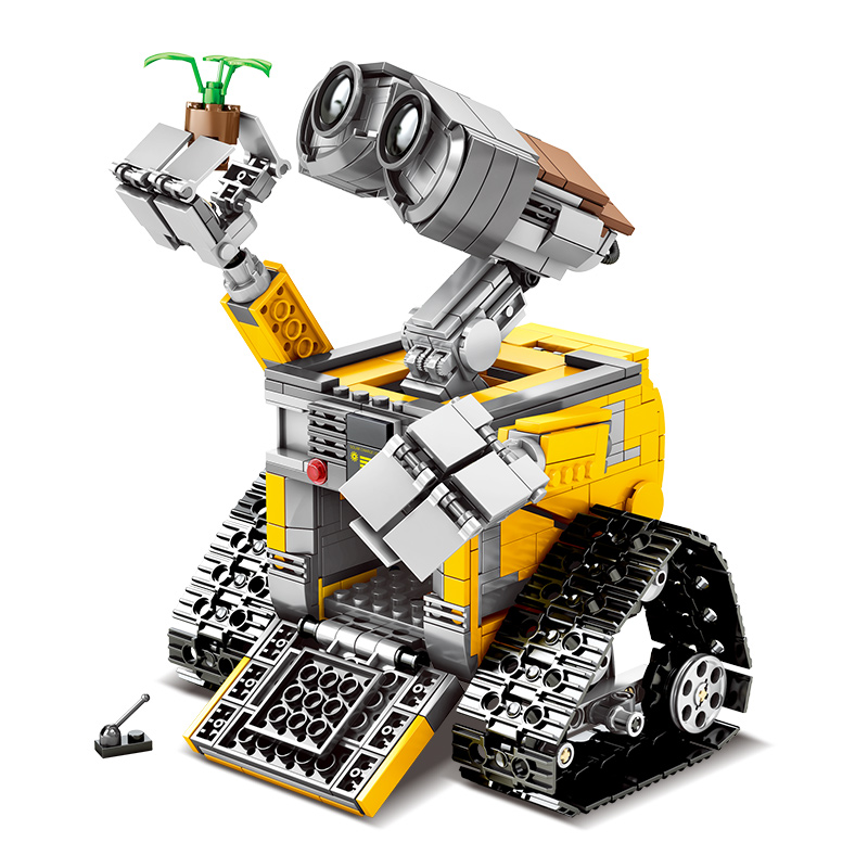 Disney 687 Pcs WALL E The Robot Building Blocks Idea Technic Figures Model Compatible Lepining DIY
