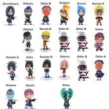 21pcs/lot Naruto Mini Action Figure Toys Sasuke Sakura Gaara Haku Akatsuki DEIDARA Toys PVC Collections Figures Kids Toys 7cm стоимость