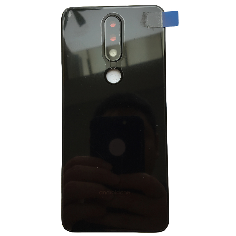 For Nokia X5 5.1 Plus New Original Glass Rear Housing Back Case Battery Cover The Phone Back Auto Parts