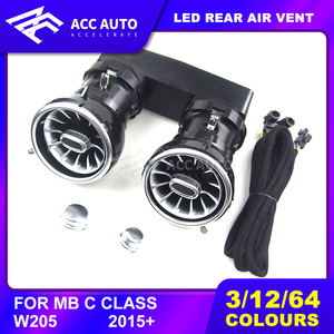 Rear-seat LED turbine air vent For Mercede C /E/ GLC class w205 w213 x253 LED air vent lamp synchronized with ambient light