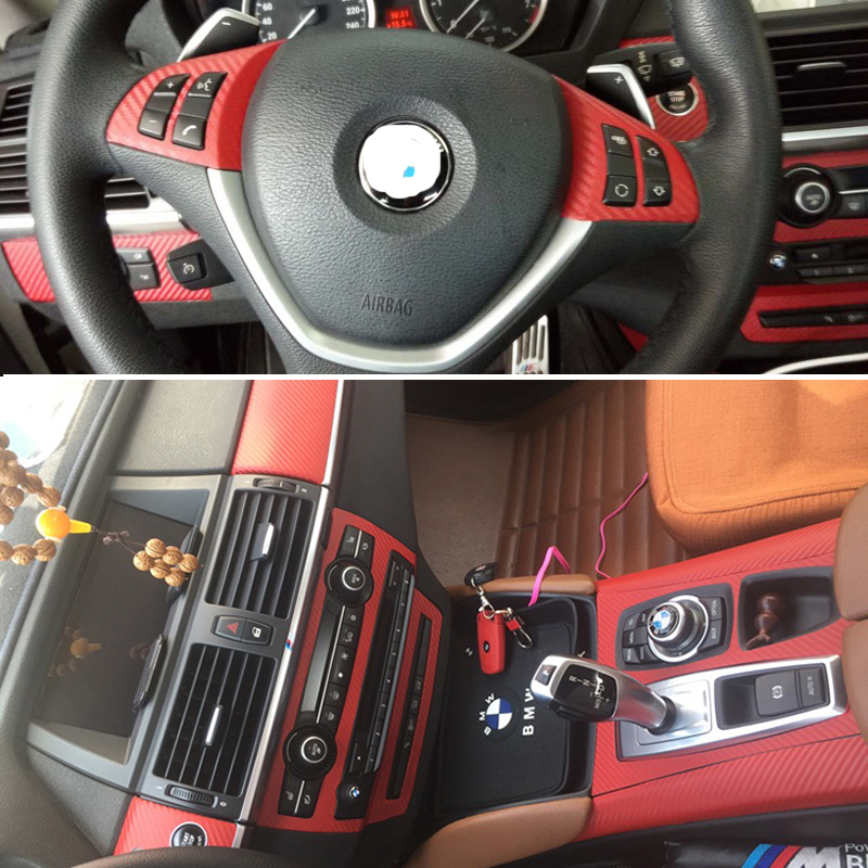 For BMW X5 E70/X6 E71 Self Adhesive Car Stickers Carbon Fiber Vinyl Car stickers and Decals Car Styling Accessories