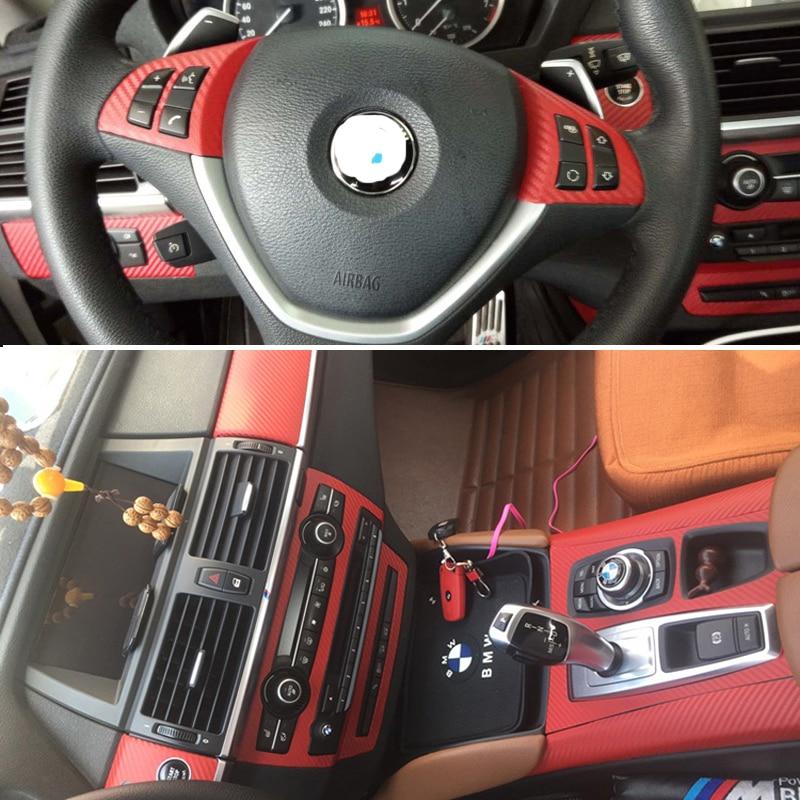 For BMW X5 E70 X6 E71 Self Adhesive Car Stickers Carbon Fiber Vinyl Car  stickers and Decals Car