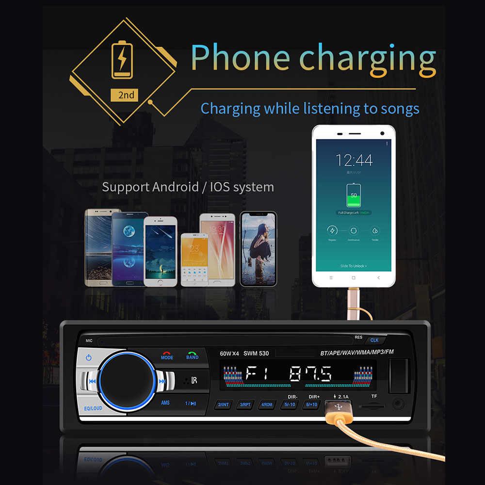 車 MP3 プレーヤー 12V JSD-520 デュアル USB 充電自動ラジオオーディオ 1Din ステレオ Bluetooth/AUX-IN/MP3/ ISO/TF/リモートコントロールカーオーディオ
