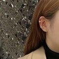 Мяч 925 серебро корейские сережки-шпильки Стиль Новые Модные Простые не проколотых женские ухо клип интернет-знаменитость модно и