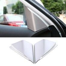 For Renault Koleos 2017 2020 Front Door Window Inner Triangle A Pillar Cover Frame Trim Matte Silver Sticker For Samsung QM6