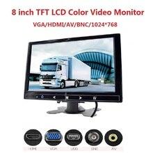 Mini TV View Computer Security Display HDMI VGA AV BNC input Car Monitor 8 inch TFT LCD monitor For Rear View Reverse Camera