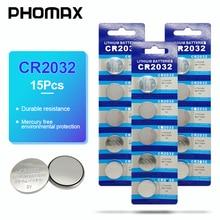 PHOMAX cr2032 15pcs watch battery Калькулятор  батарея cr 2032 Coche Batería de control remoto del coche Car Renote battery